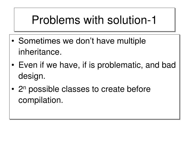 Problems with solution-1