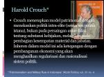 harold crouch