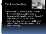 the state qua state