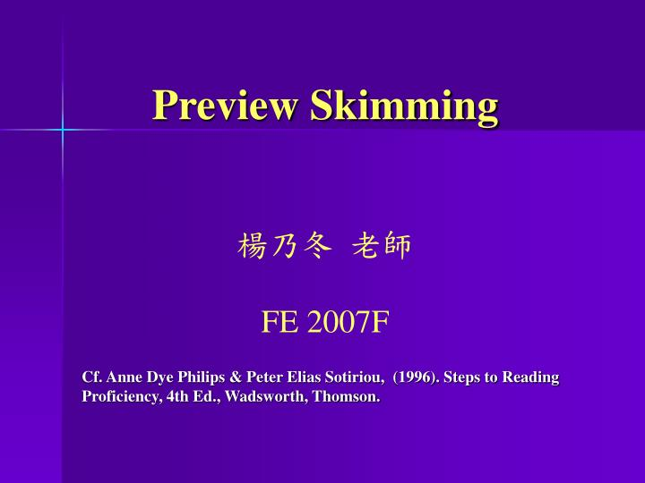 preview skimming fe 2007f n.