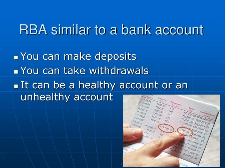RBA similar to a bank account