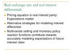 real exchange rate and real interest differentials