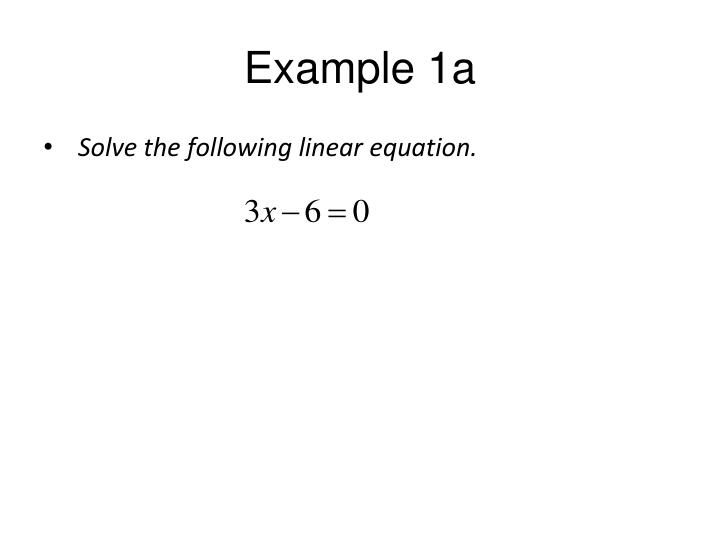 Example 1a