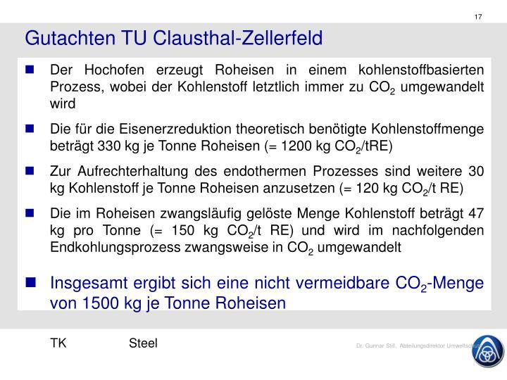 Gutachten TU Clausthal-Zellerfeld