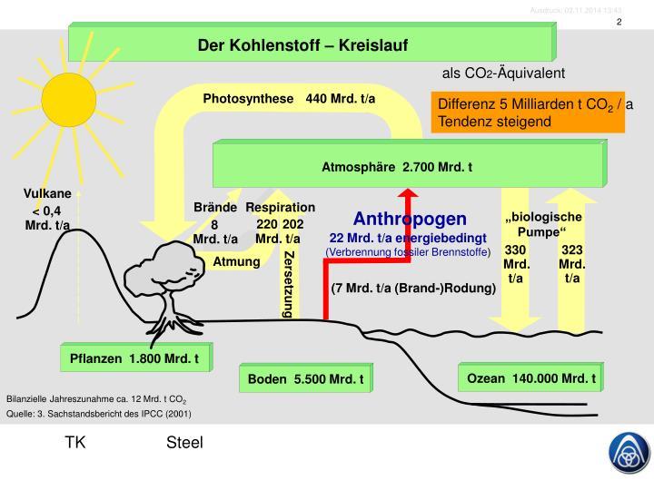 Der Kohlenstoff – Kreislauf