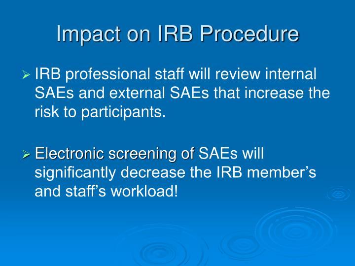Impact on IRB Procedure