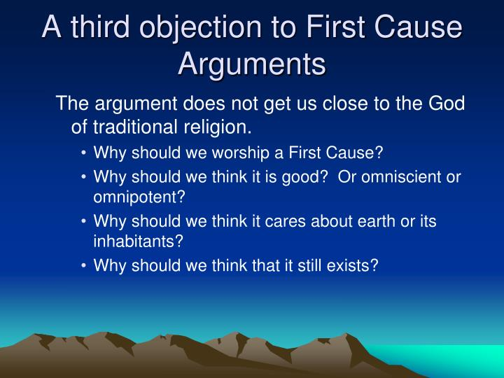 A third objection to First Cause Arguments