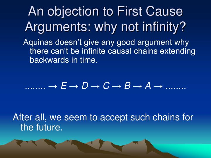 An objection to First Cause Arguments: why not infinity?