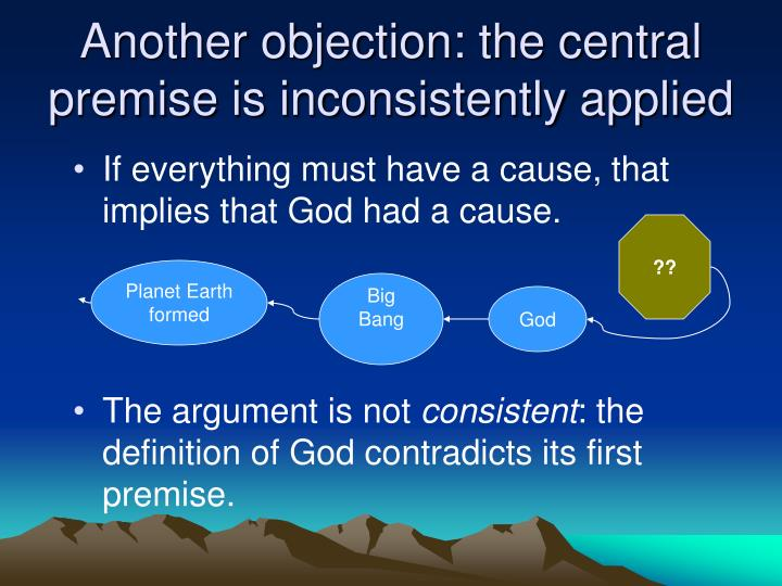 Another objection: the central premise is inconsistently applied