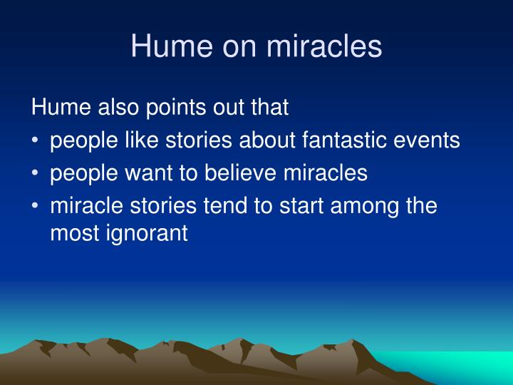 Hume on miracles