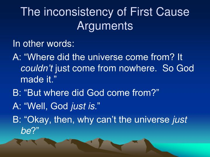 The inconsistency of First Cause Arguments