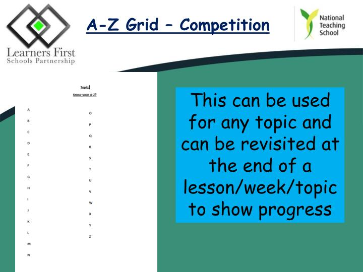 A-Z Grid – Competition