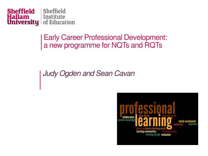 Early Career Professional Development: