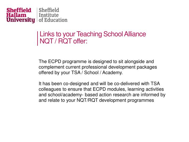 Links to your Teaching School Alliance
