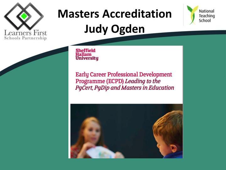 Masters Accreditation