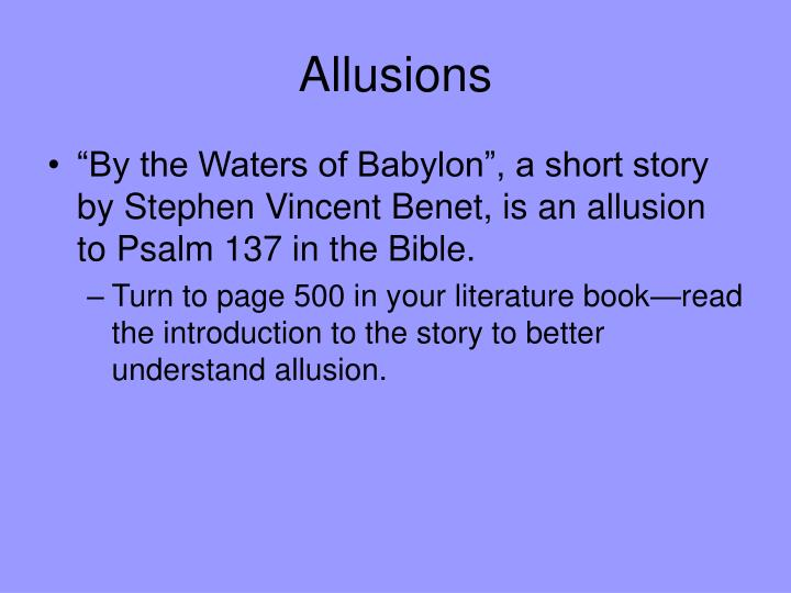 Ppt Allusion Powerpoint Presentation Id6114627