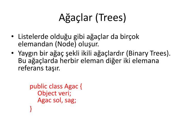 A a lar trees