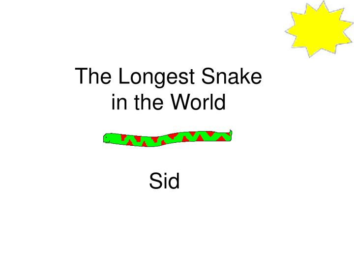 the longest snake in the world n.