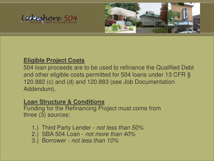 Eligible Project Costs