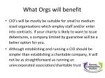 what orgs will benefit