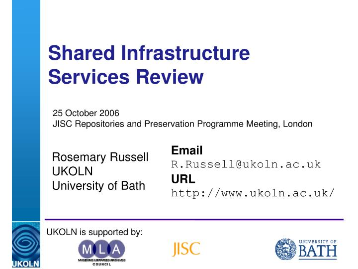 shared infrastructure services review n.