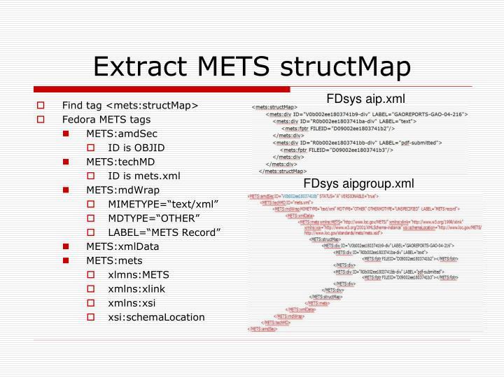 Extract METS structMap