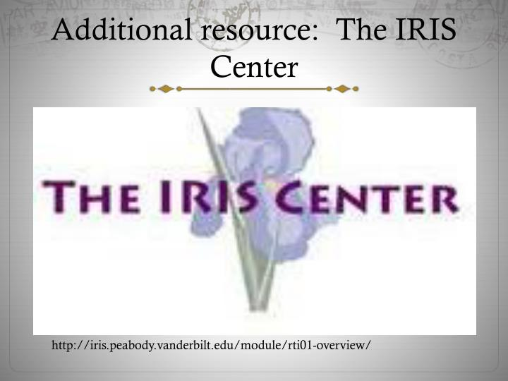 iris center learning module paper The iris (idea and research for inclusive settings) center is based at vanderbilt university's peabody college and serves college and university faculty working in pre-service preparation programs.