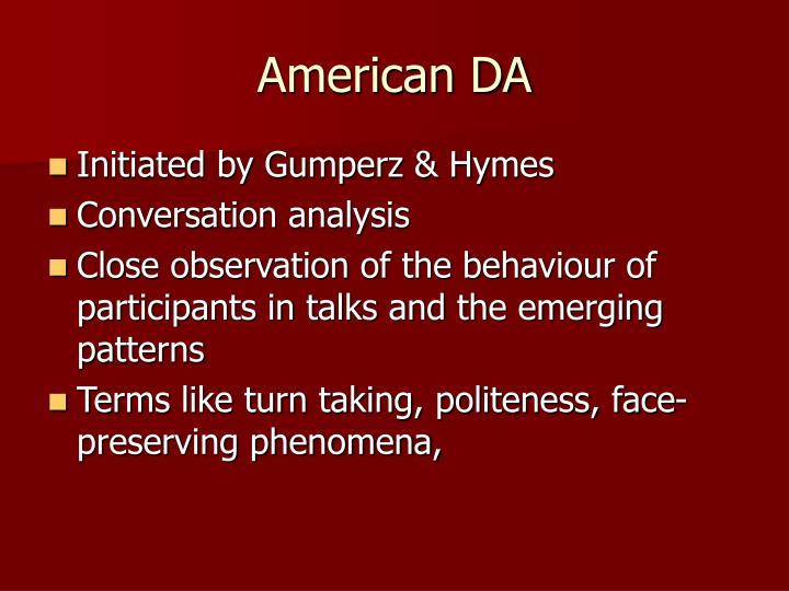 American DA