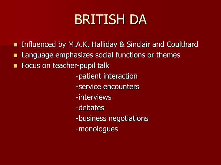 BRITISH DA