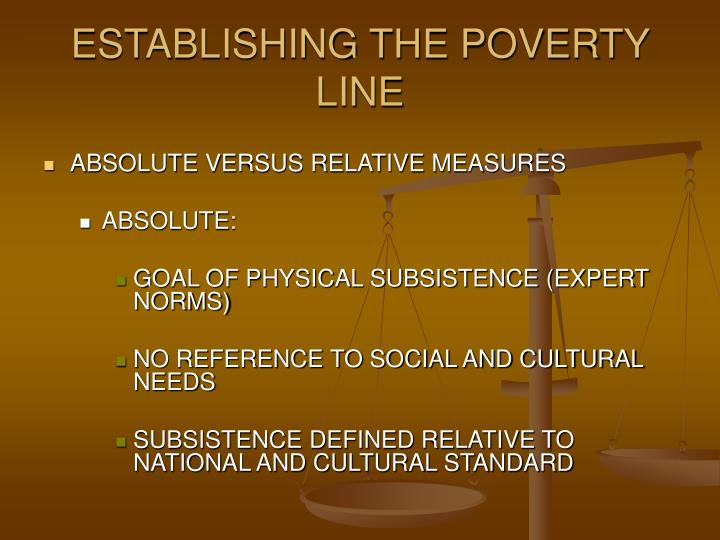 absolute poverty and relative poverty Attention to the issues of relative poverty and inequality is intensifying amidst today's fragile global economy while pre-crisis economic growth generally reduced the incidence of absolute poverty, concerns remain about relative deprivation and social exclusion, which don't necessarily decline just because someone moves out of extreme poverty.