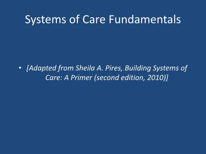 systems of care fundamentals n.