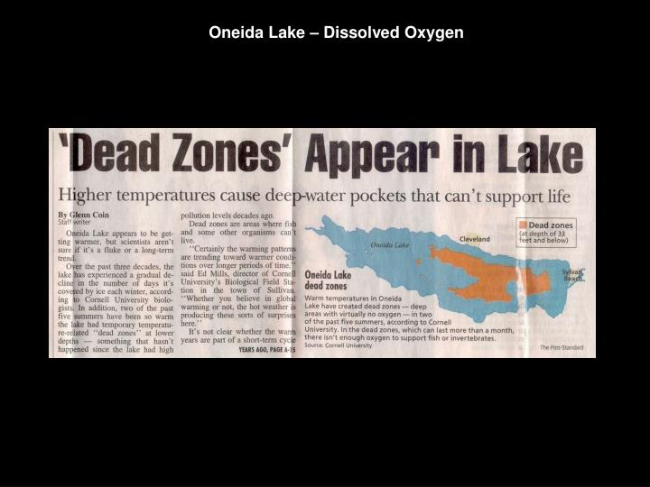 Oneida Lake – Dissolved Oxygen
