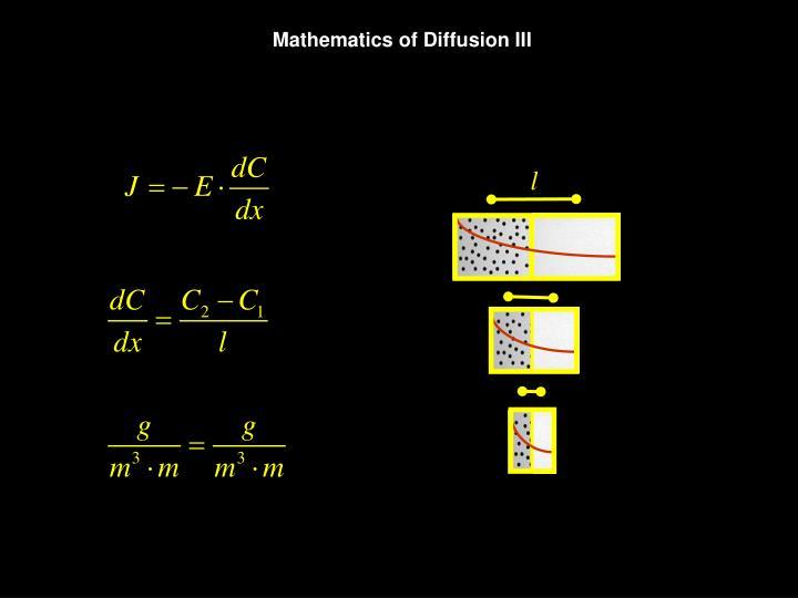 Mathematics of Diffusion III