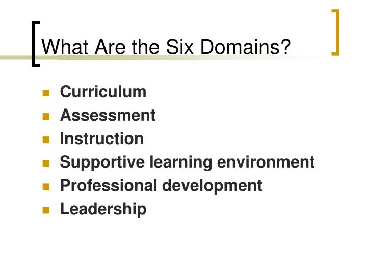 What Are the Six Domains?