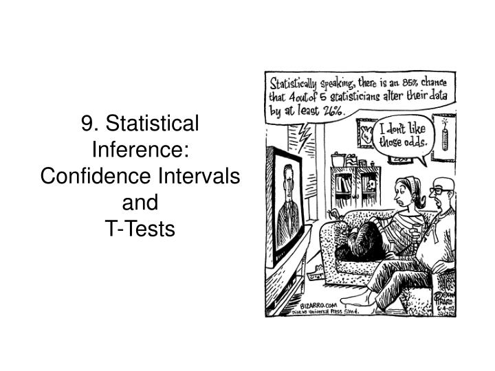 9 statistical inference confidence intervals and t tests
