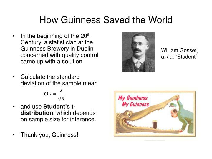 How Guinness Saved the World