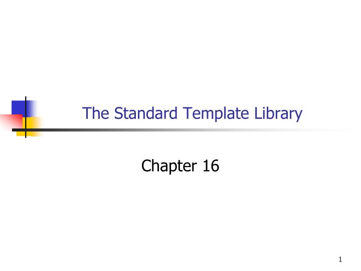 the standard template library n.