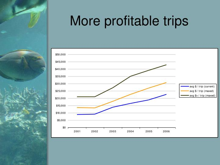 More profitable trips