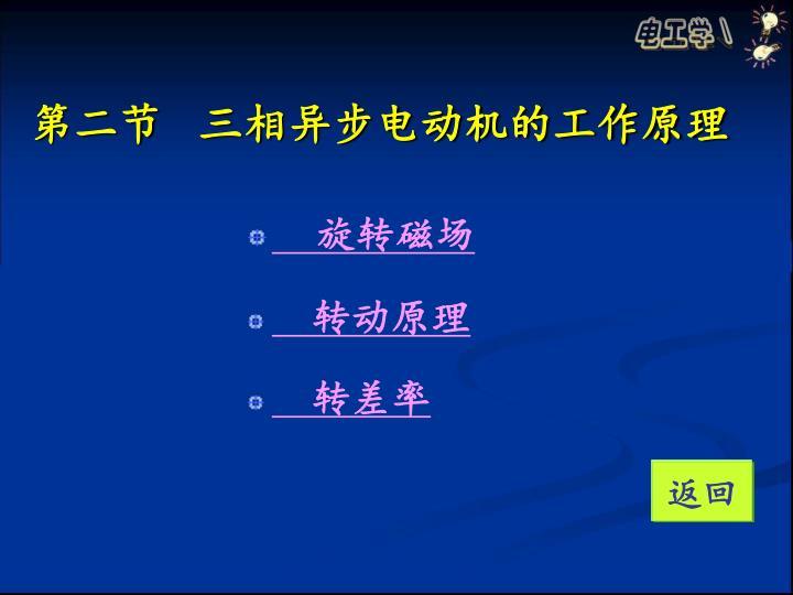 第二节   三相异步电动机的工作原理