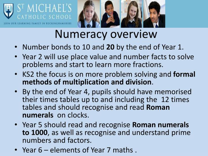Numeracy overview