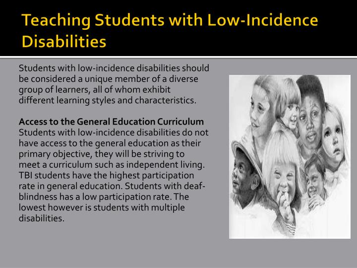 Teaching Students with Low-Incidence Disabilities