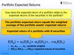 portfolio expected returns