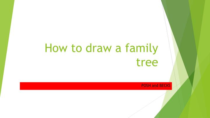 how to draw a family tree n.