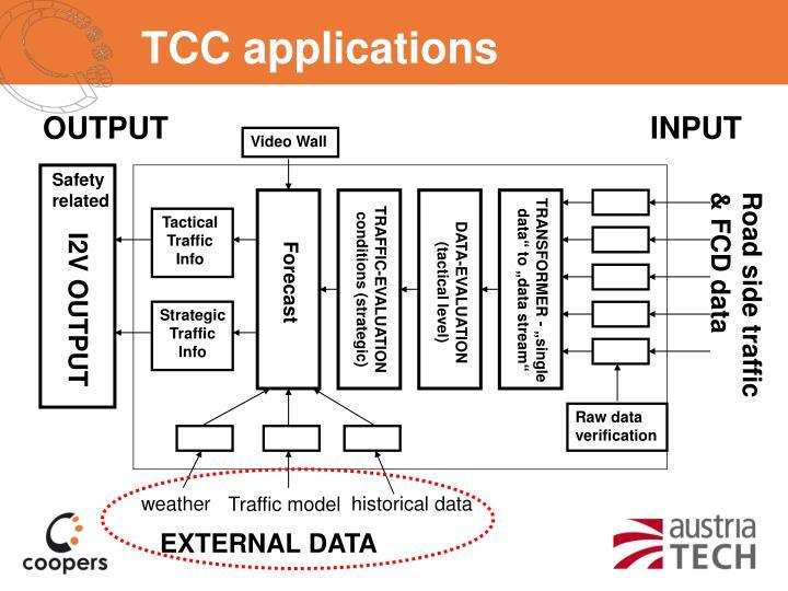 TCC applications
