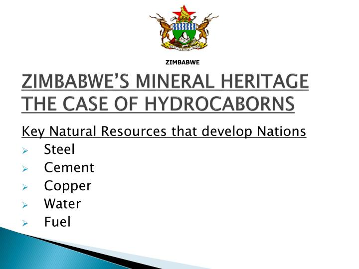 zimbabwe s mineral heritage the case of hydrocaborns n.