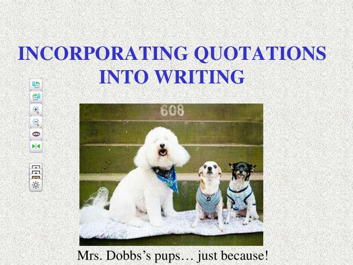 incorporating quotations into writing n.