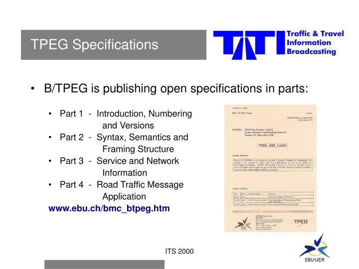 TPEG Specifications