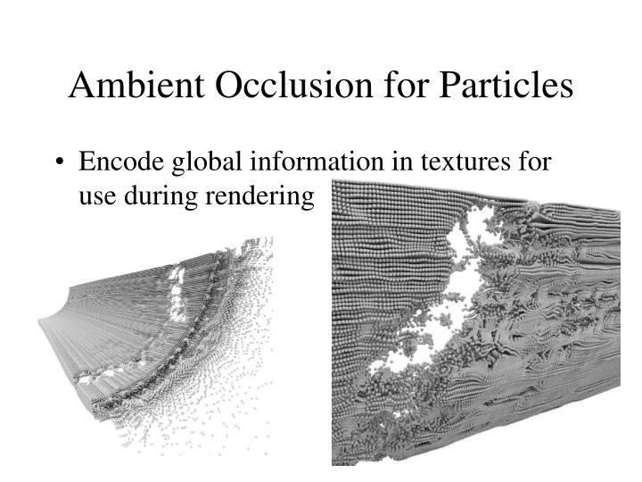 Ambient occlusion for particles