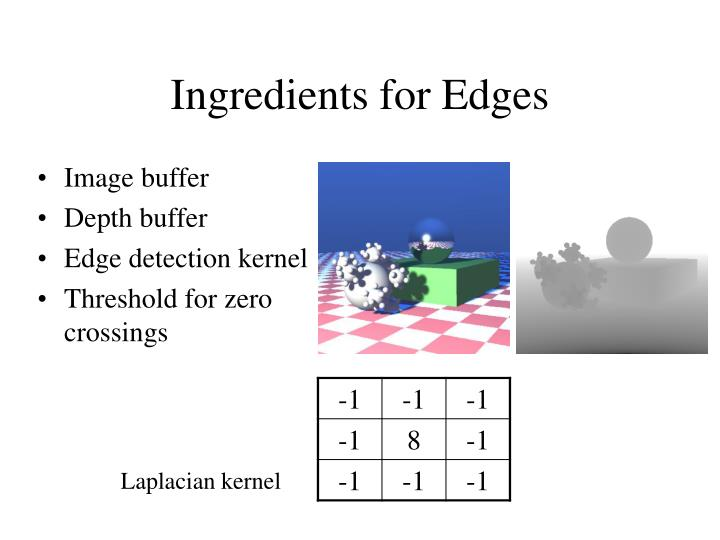Ingredients for Edges