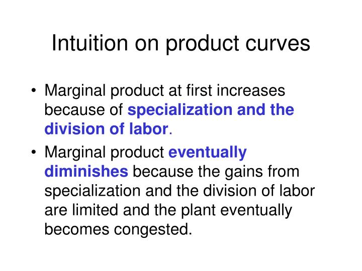 Intuition on product curves